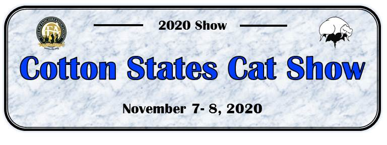 Cotton States 2020 Cat Show Announcement